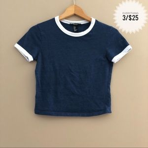 Juniors FOREVER 21 cropped tee